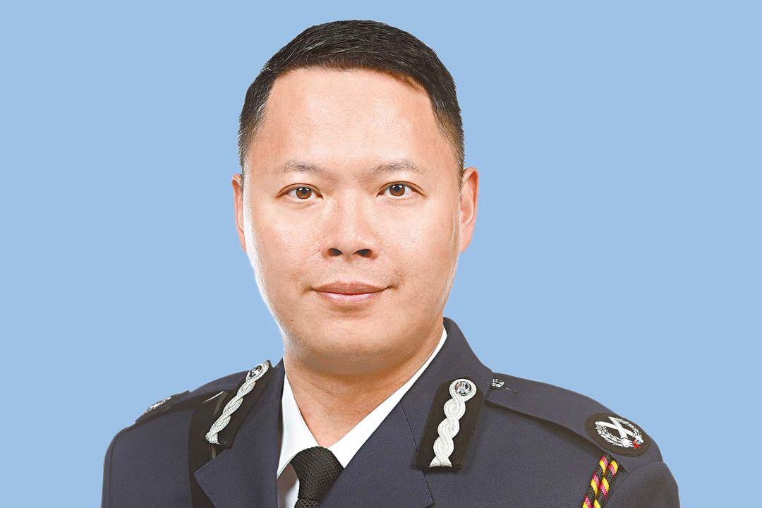 香港警務處國家安全處首任處長蔡展鵬。 圖片來自香港警務處官網