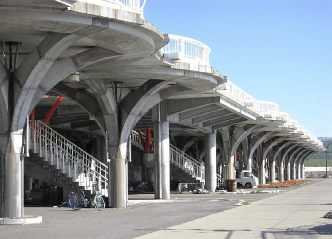 青苗漁港旁的「望海橋」是世界首個漁港避難設施,高約六公尺,可供約2300人緊急避難。