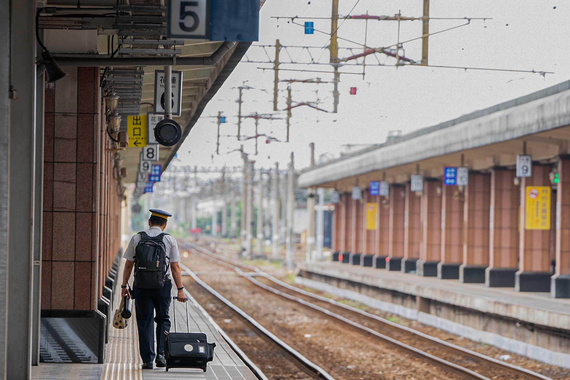 2021年4月8日,花蓮火車站。