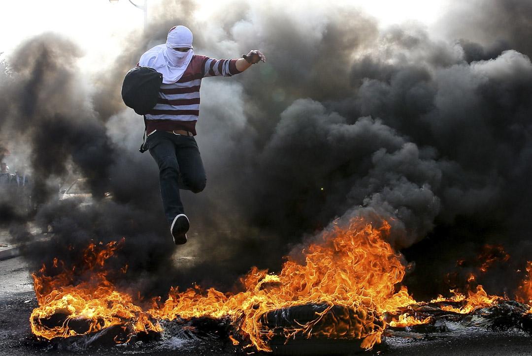 2017年12月11日,示威者抗議美國總統特朗普承認耶路撒冷為以色列首都。