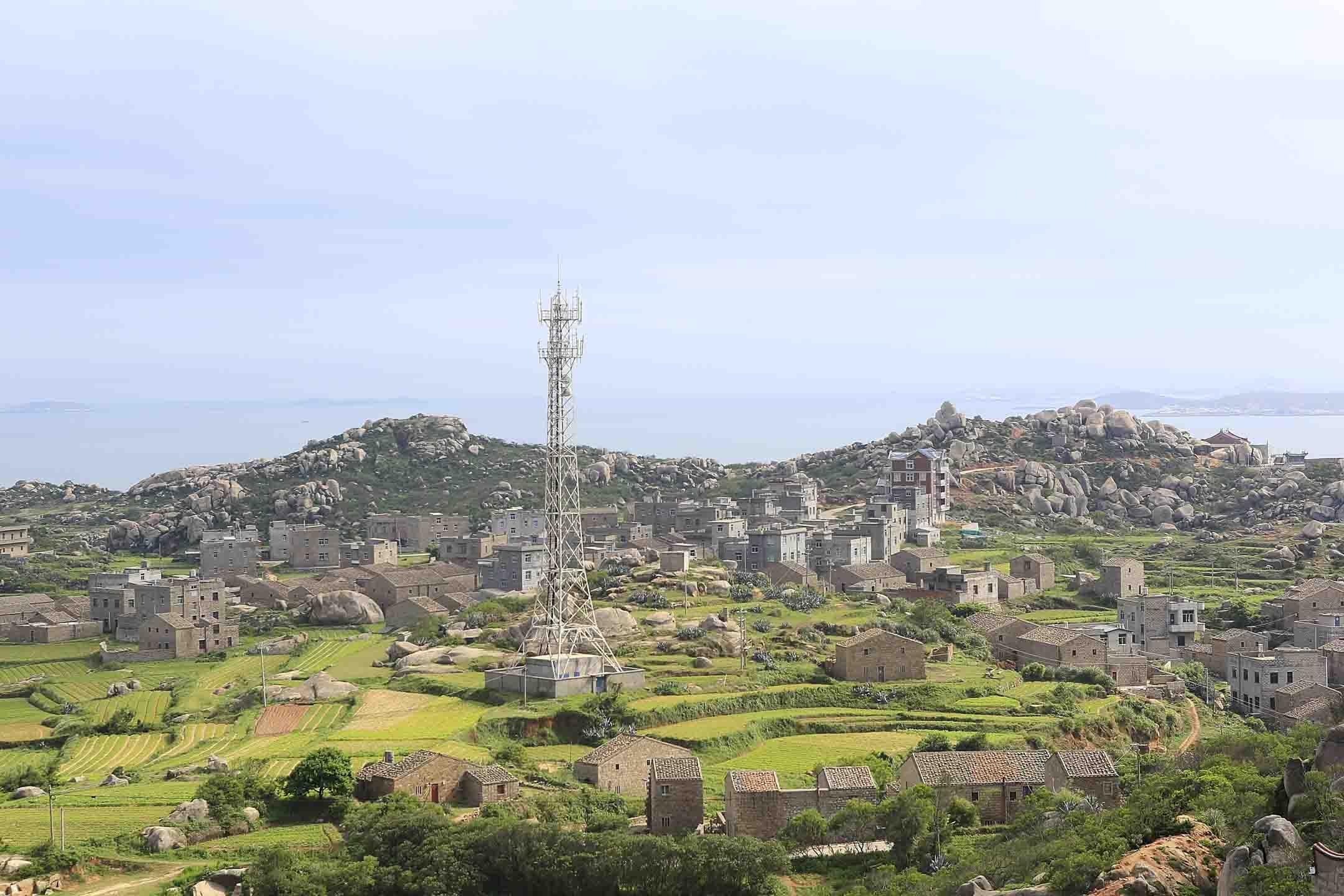 平潭島的村莊。