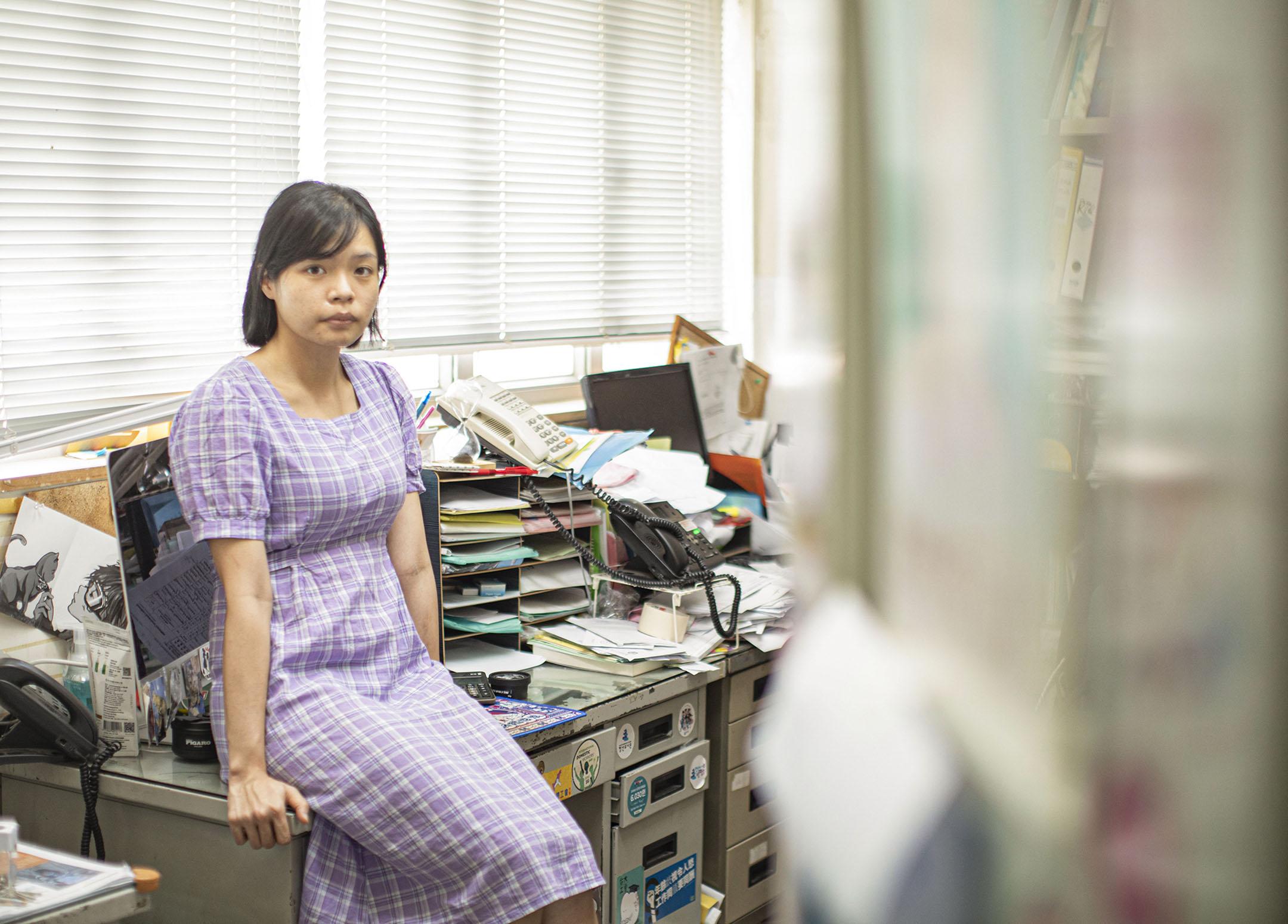 香港亞洲家務工工會聯會幹事石姵妍。
