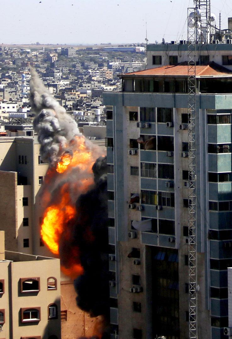 2021年5月15日,以色列在行動中炸毀了位於加沙的一棟有着多家國際媒體駐紮的大樓。