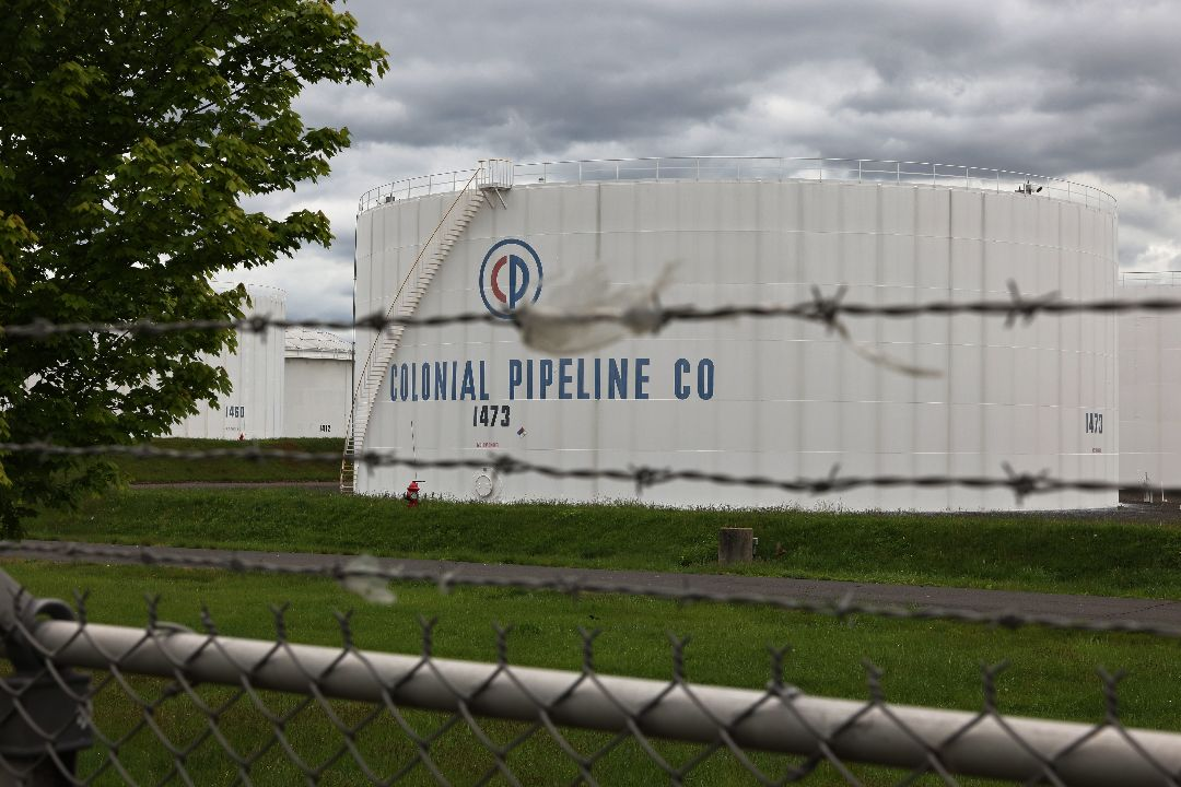 2021年5月10日,美國新澤西州,Colonial Pipeline輸油管道公司。 攝:Michael M. Santiago/Getty Images
