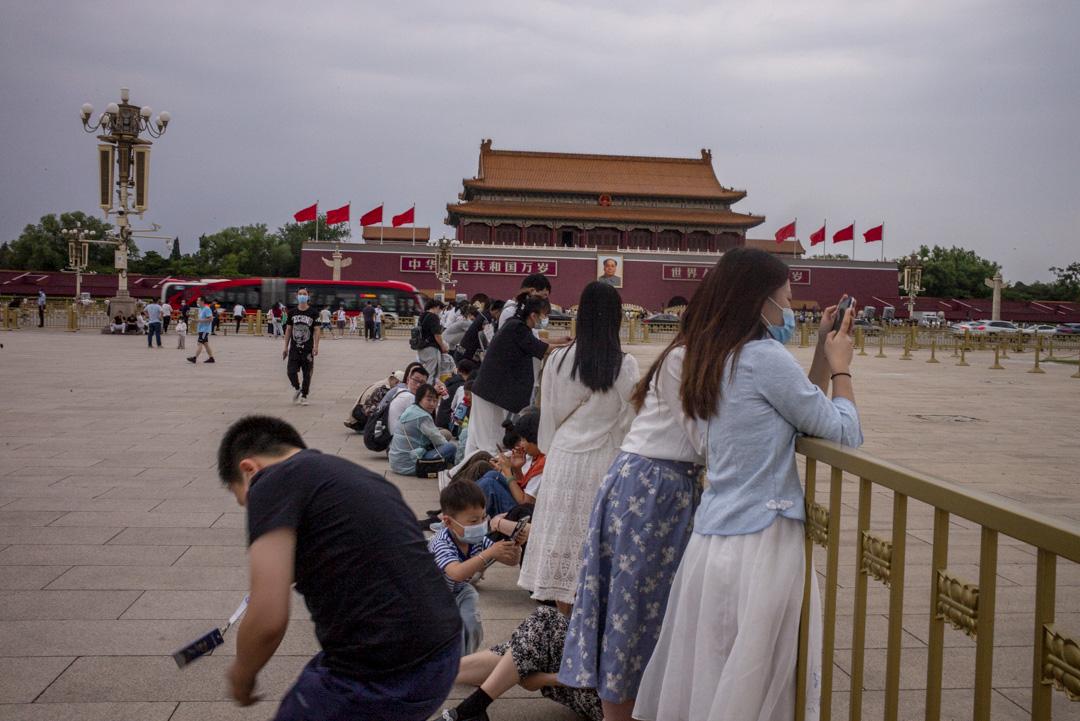 2021年6月,北京天安門。
