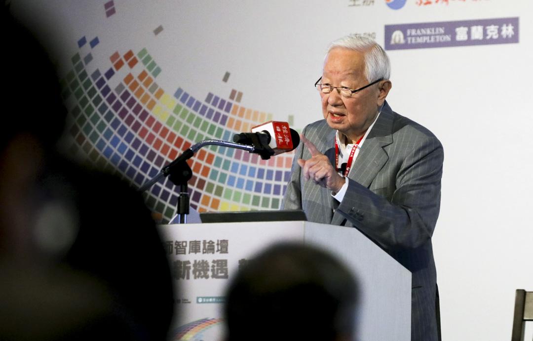 2021年4月21日,台積電創始人張忠謀在台灣聯合報 (UDN) 集團主辦的論壇上發表講話。