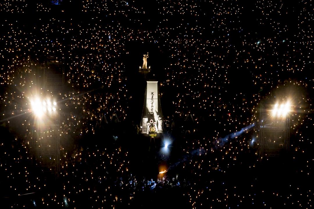 2018年6月4日,支聯會舉行「悼六四、抗威權」燭光晚會,大會宣佈有11萬5000人參與。