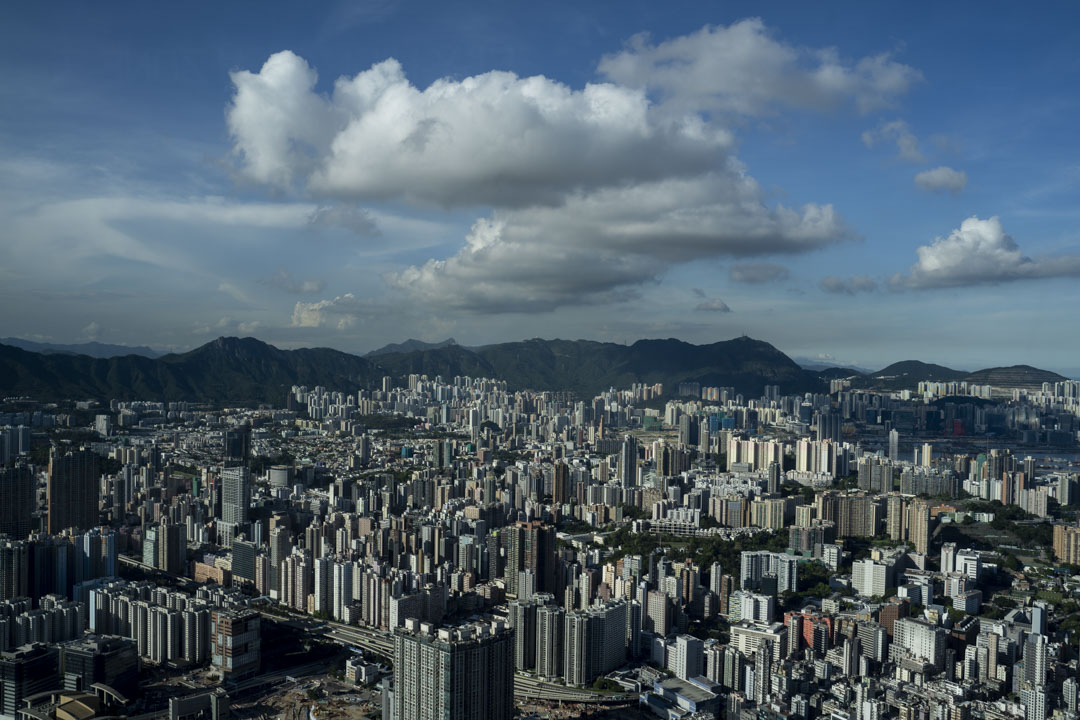 香港九龍區的高樓住宅。
