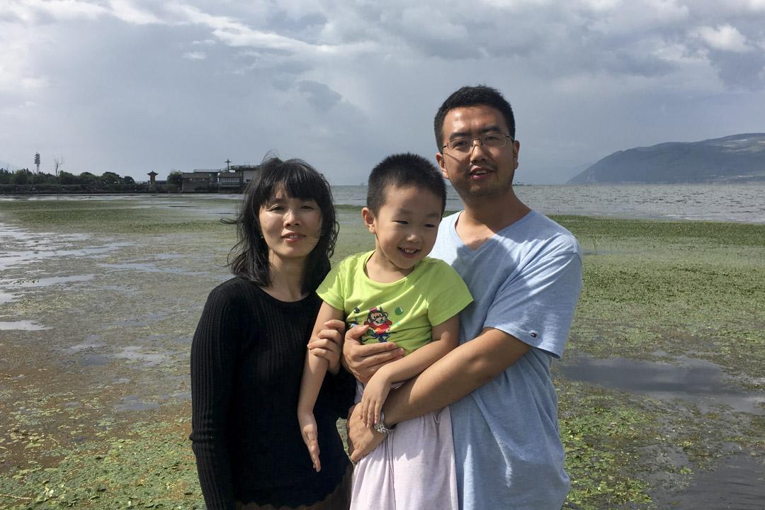常玮平与妻子陈紫娟及儿子合照。