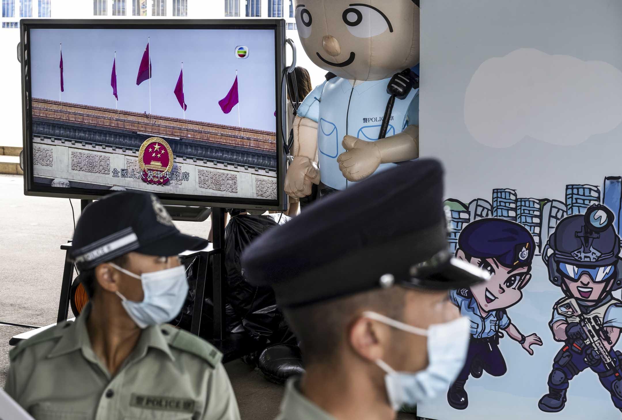 2021年4月15日,香港警察學院舉行的國家安全教育日開放日。