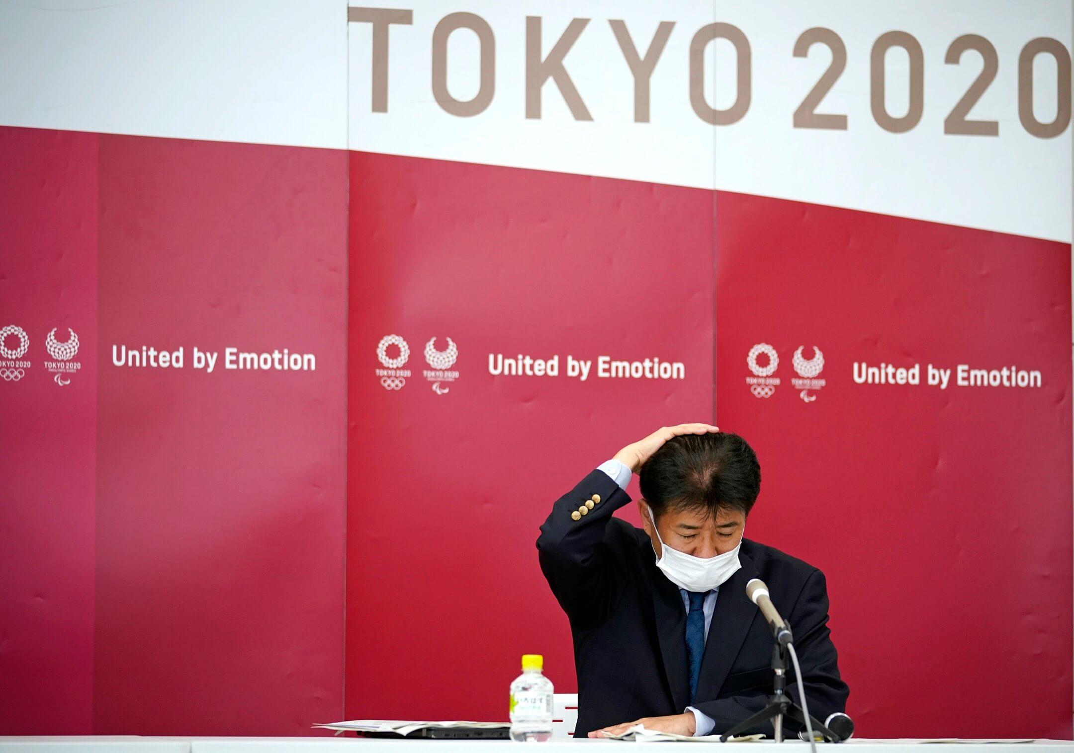 2021年5月28日,東京奧組委奧運舉辦統管中村英正出席一個記者會。 攝:Franck Robichon - Pool/Getty Images