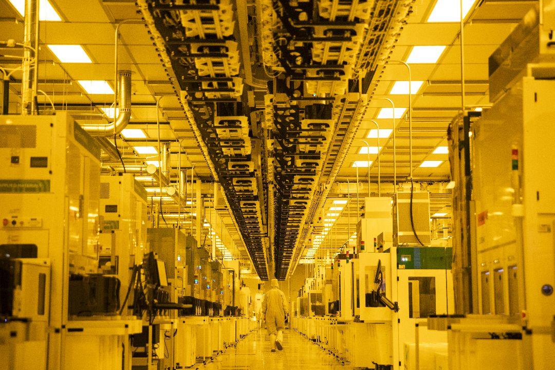 2021年3月16日,美國紐約州馬爾他,GlobalFoundries半導體生產廠。 攝:Jason Janik/Getty Images