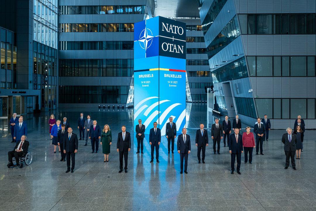 2021年6月14日,比利時布魯塞爾,北約組織(NATO)領導人舉行峰會。 攝:Getty Images