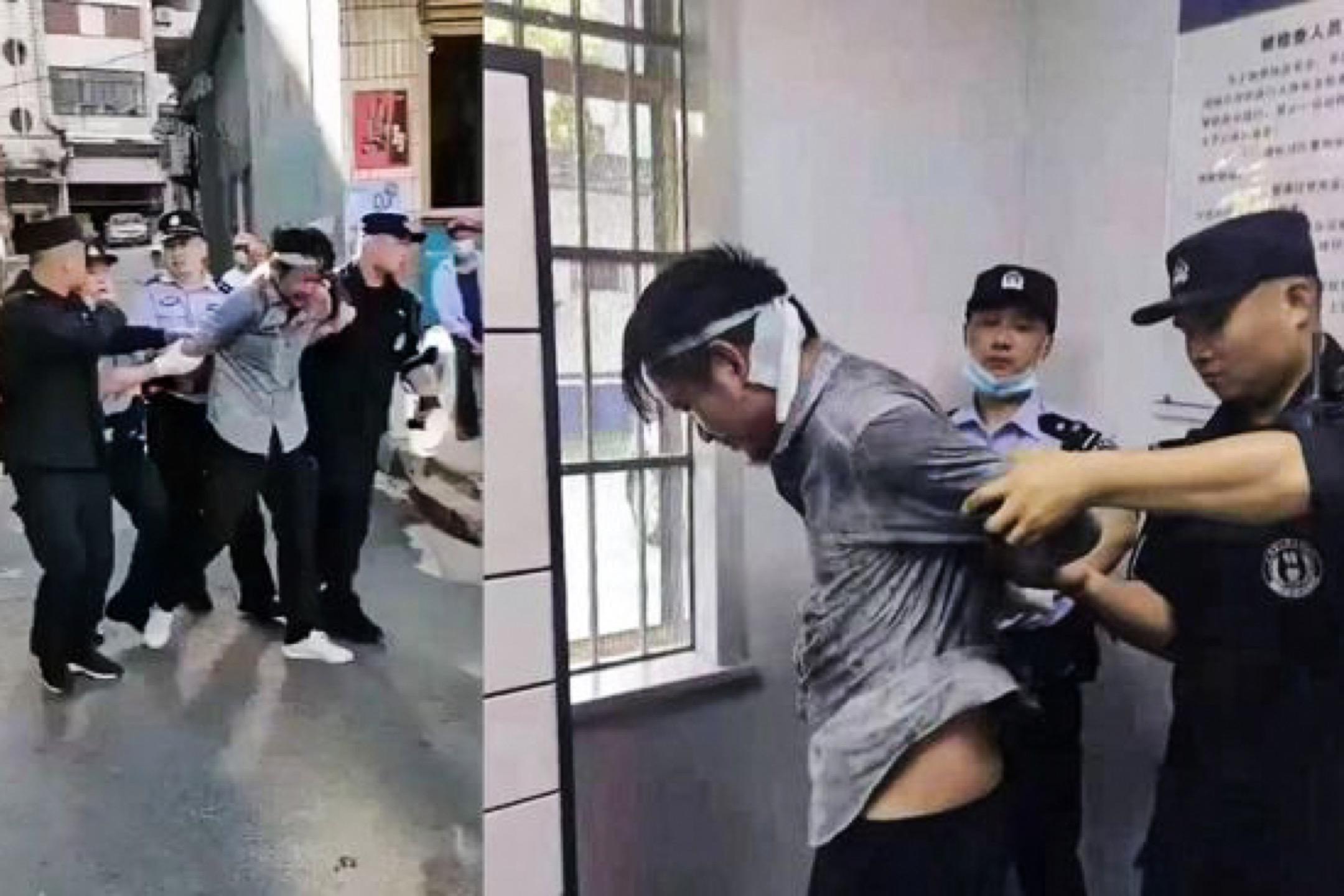 2021年6月5日,中國安徽安慶市發生隨機殺人事件,公安制服並拘捕一名男子。 網上圖片