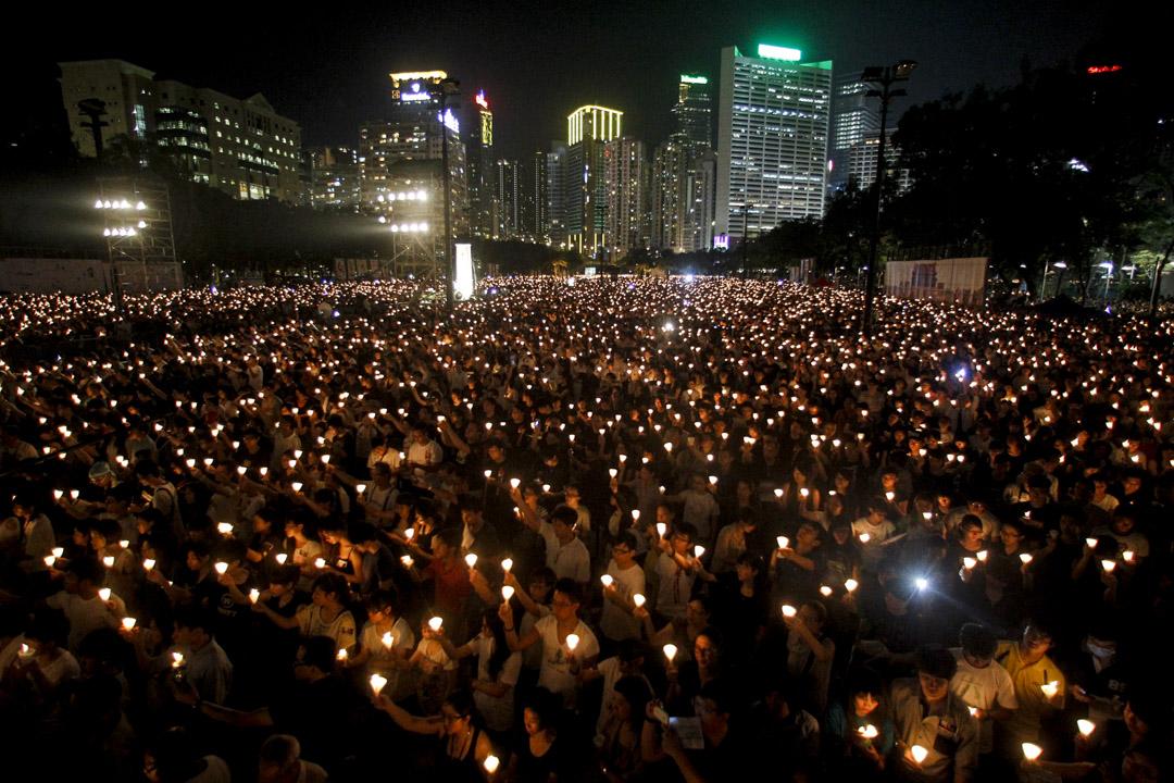 2012年6月4日,維園燭光晚會共18萬人出席,破歷年紀錄。
