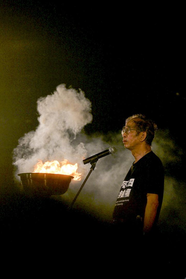 2006年6月4日,時任支聯會主席司徒華在維園燭光晚會上致悼辭。