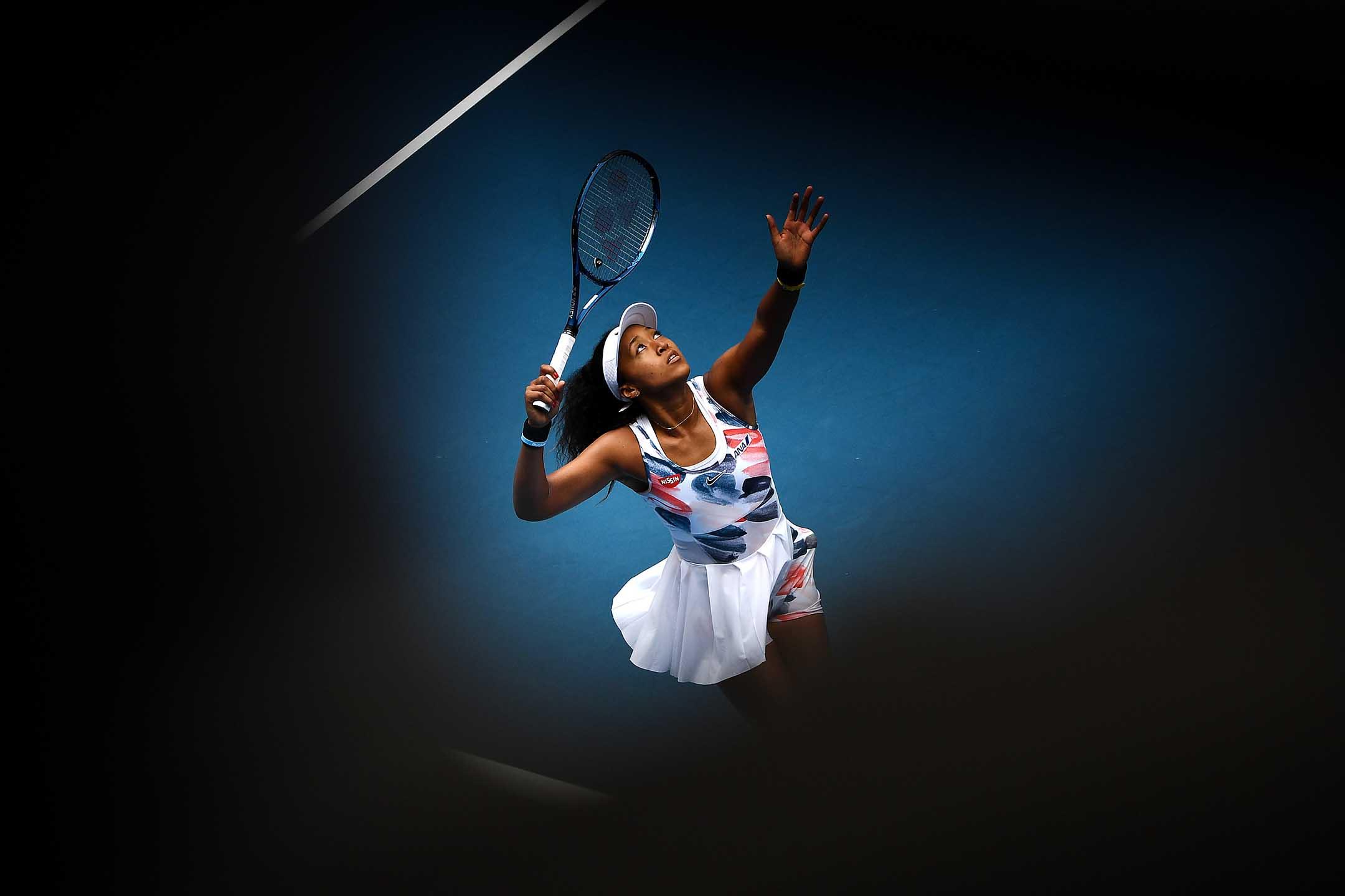 2020年1月22日澳洲墨爾本,澳洲網球公開賽第三天,日本選手大坂直美在女單比賽中。 攝:Quinn Rooney/Getty Images