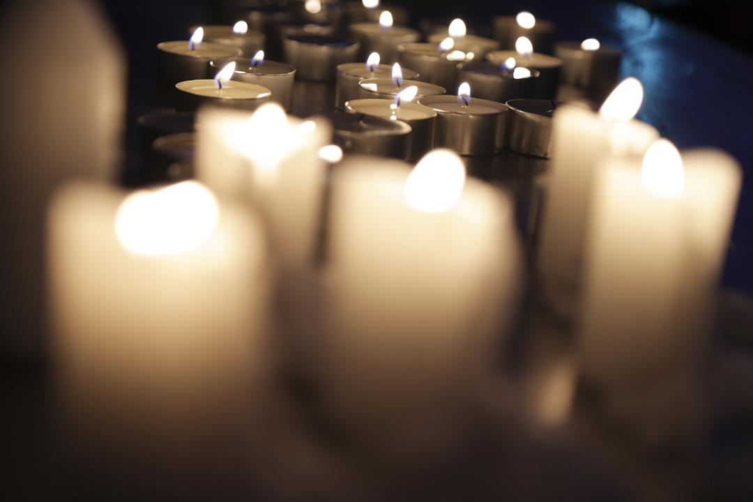 2021年6月4日,美國華盛頓特區自由廣場舉行的六四32週年燭光悼念集會。