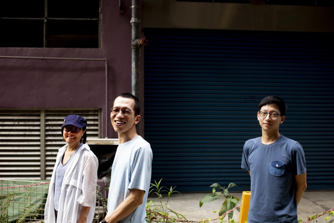 創傷同學會三位創辦人—— 前傳媒人山地、非暴力溝通導師阿池及學者小曹。