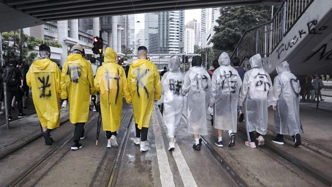 香港導演周冠威拍攝的紀錄片《時代革命》劇照。
