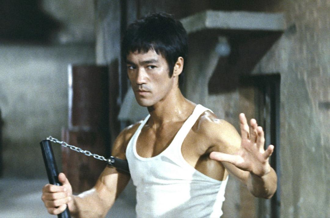 已故武打巨星李小龍。