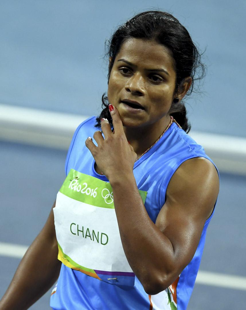 印度田徑女將昌德(Dutee Chand)。