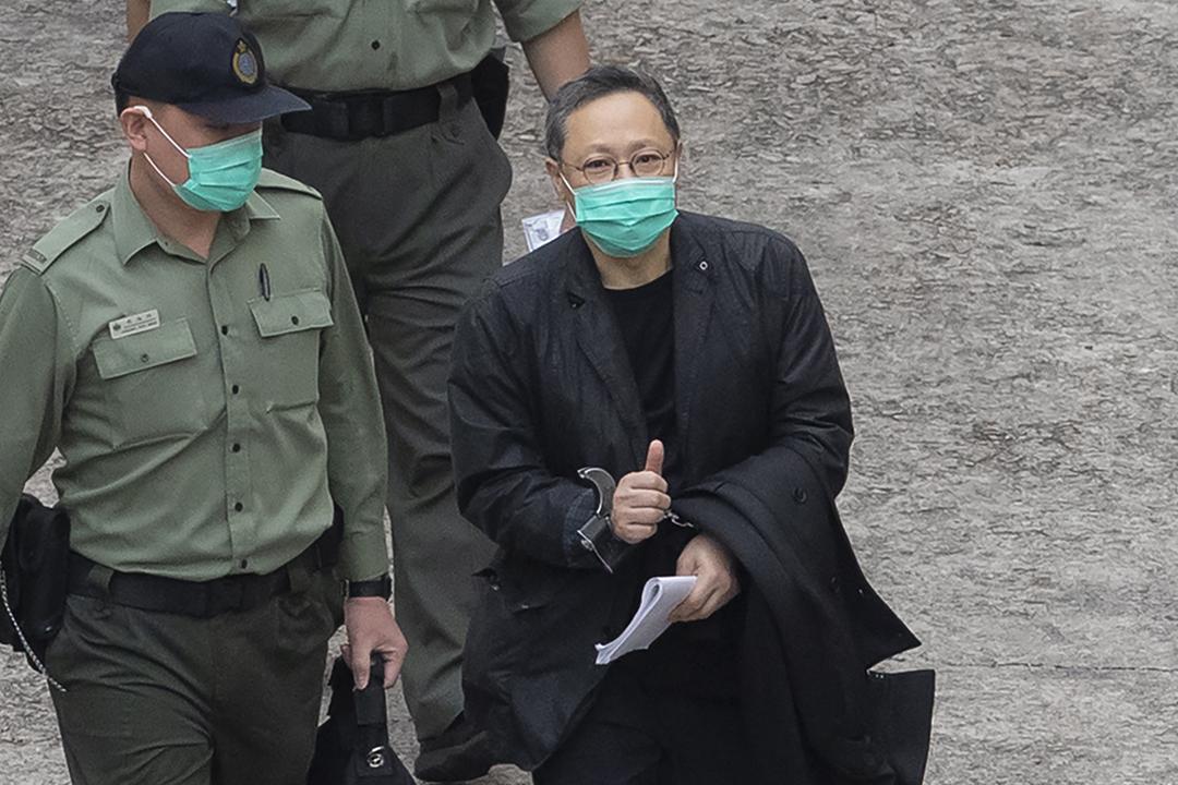 2021年3月2日,被控涉嫌違反《港區國安法》的香港大學法律系前副教授戴耀廷。 攝:Kin Cheung / AP