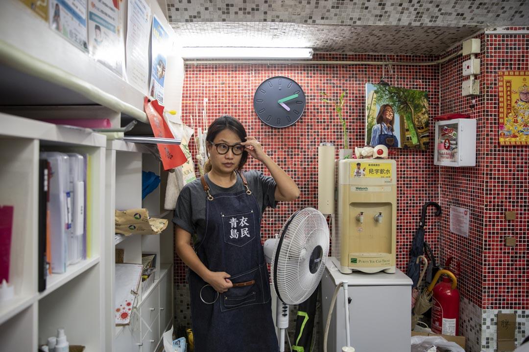 前青衣邨選區區議員王必敏。