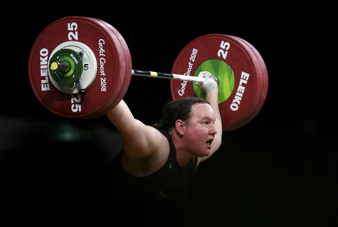 紐西蘭87公斤級女選手哈伯德(Laurel Hubbard)。