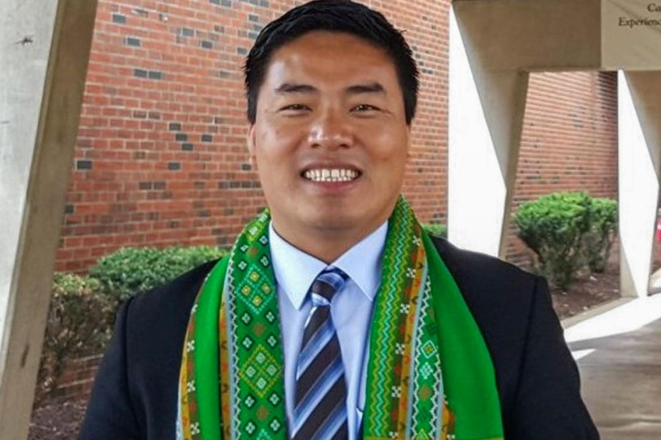 緬甸平行政府,也即全國團結政府(National Unity Government)的國際合作部長的薩莎醫生(Dr Sasa)。