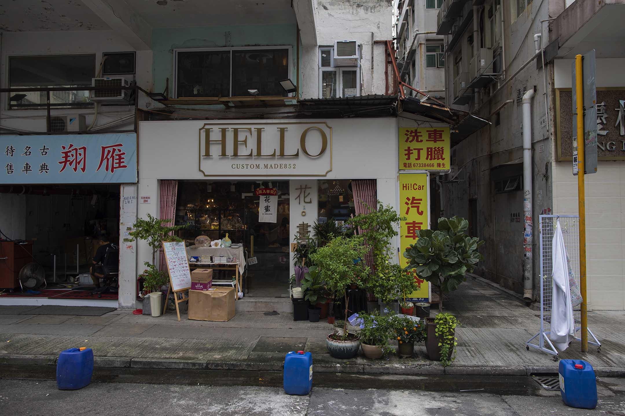 深水埗大南街手作店 花。畫。
