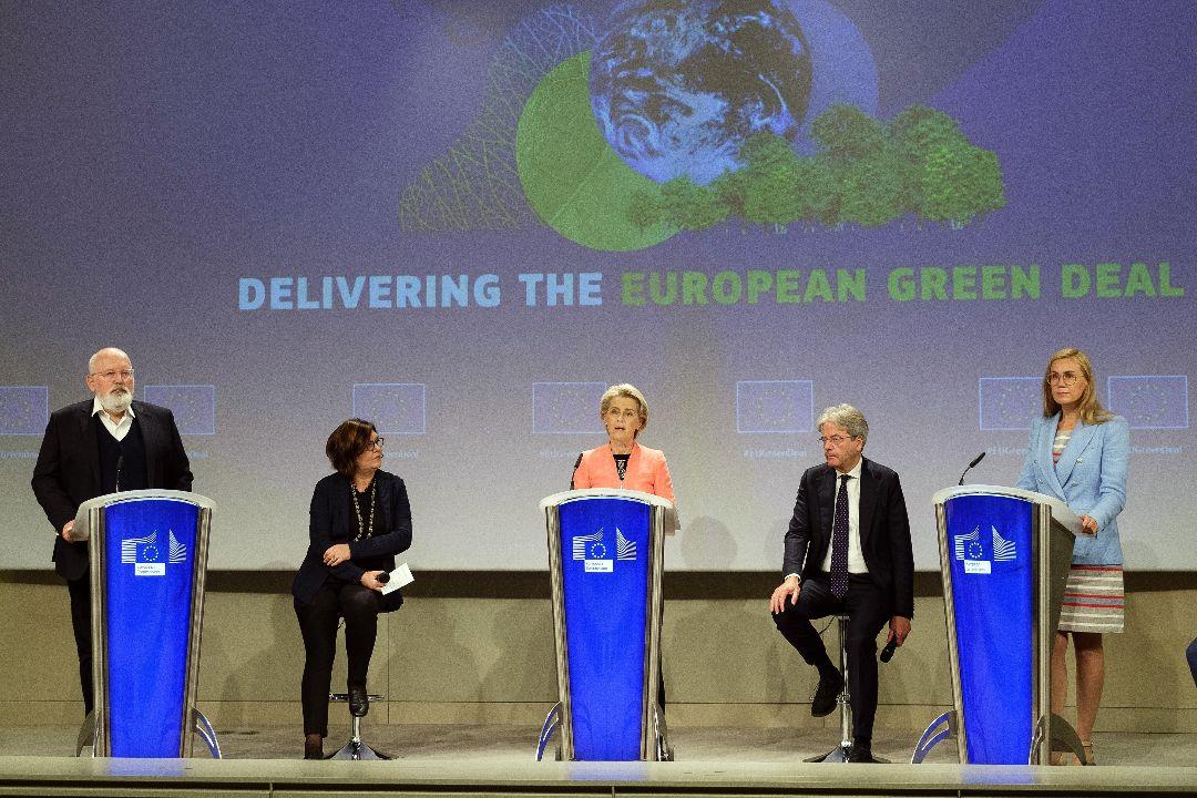 2021年7月14日,比利時布魯塞爾,歐盟公布應對氣候變化一系列計劃。 攝:Thierry Monasse/Getty Images