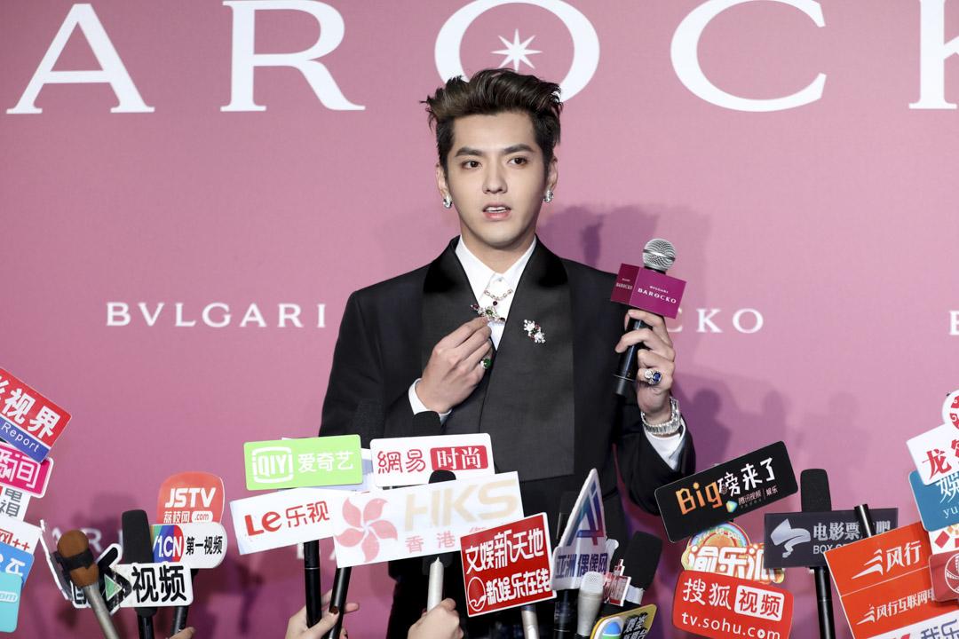 2020年10月23日,吳亦凡在上海參加寶格麗 Barocko 活動並會見傳媒。