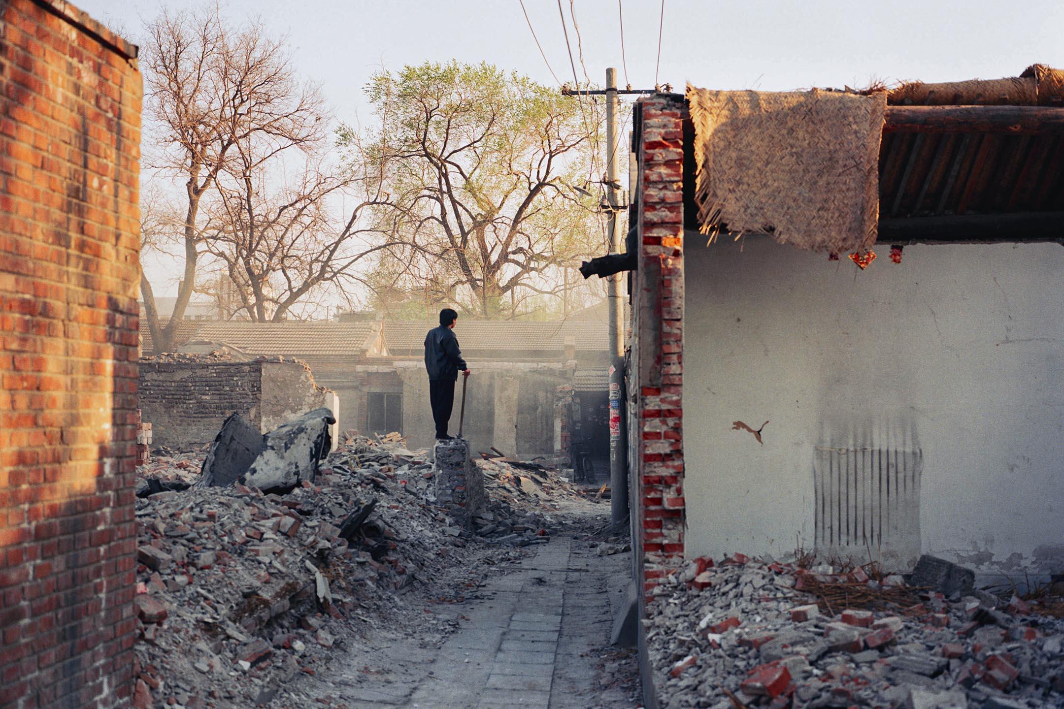 2007年07月25日,中國被拆毀的建築物。 攝:Daniel Traub/Avalon via Getty Images