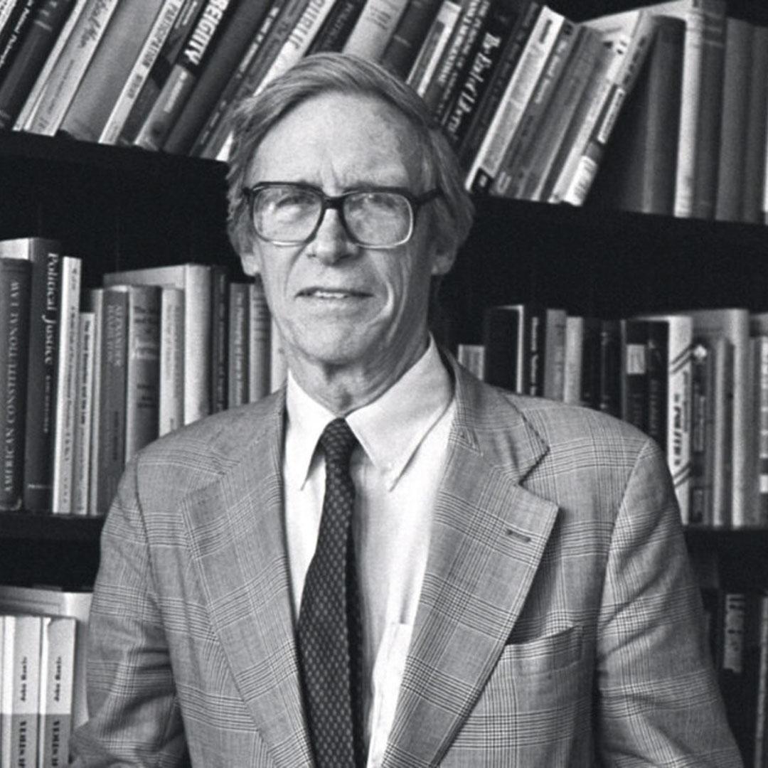 美國哲學家約翰・羅爾斯(John Rawls)。