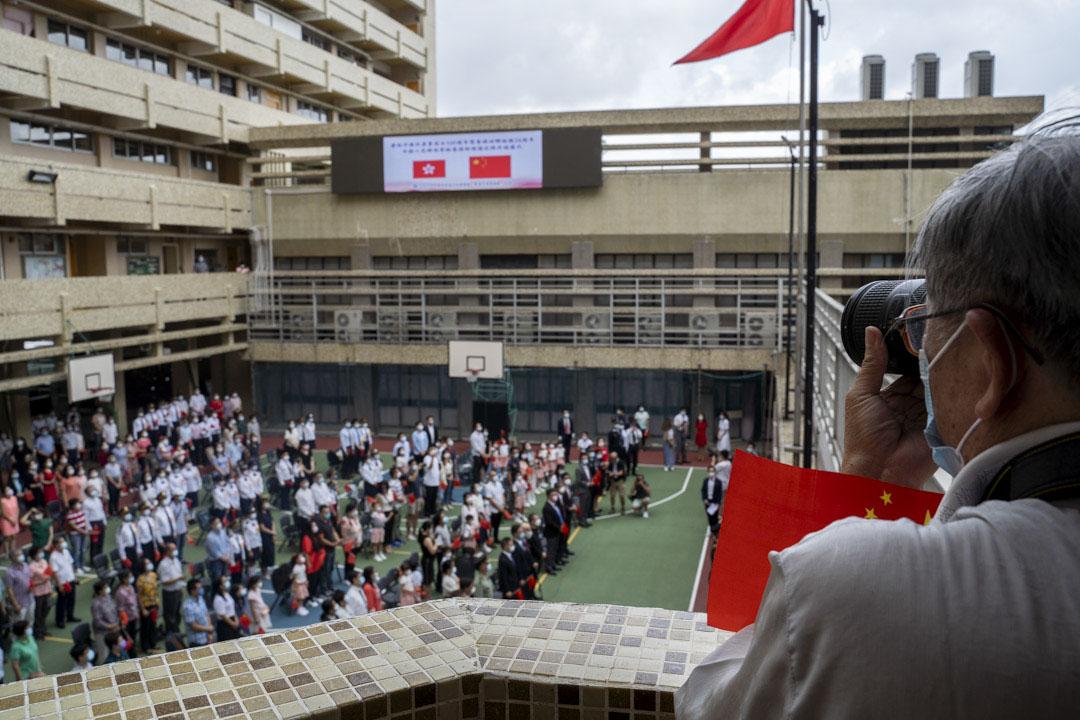 2021年7月1日,北角培僑中學,香港升旗隊總會在校內舉行「慶祝中國共產黨建黨 100 周年暨香港回歸祖國 24 周年駐港部隊三軍儀仗隊升旗儀式」。
