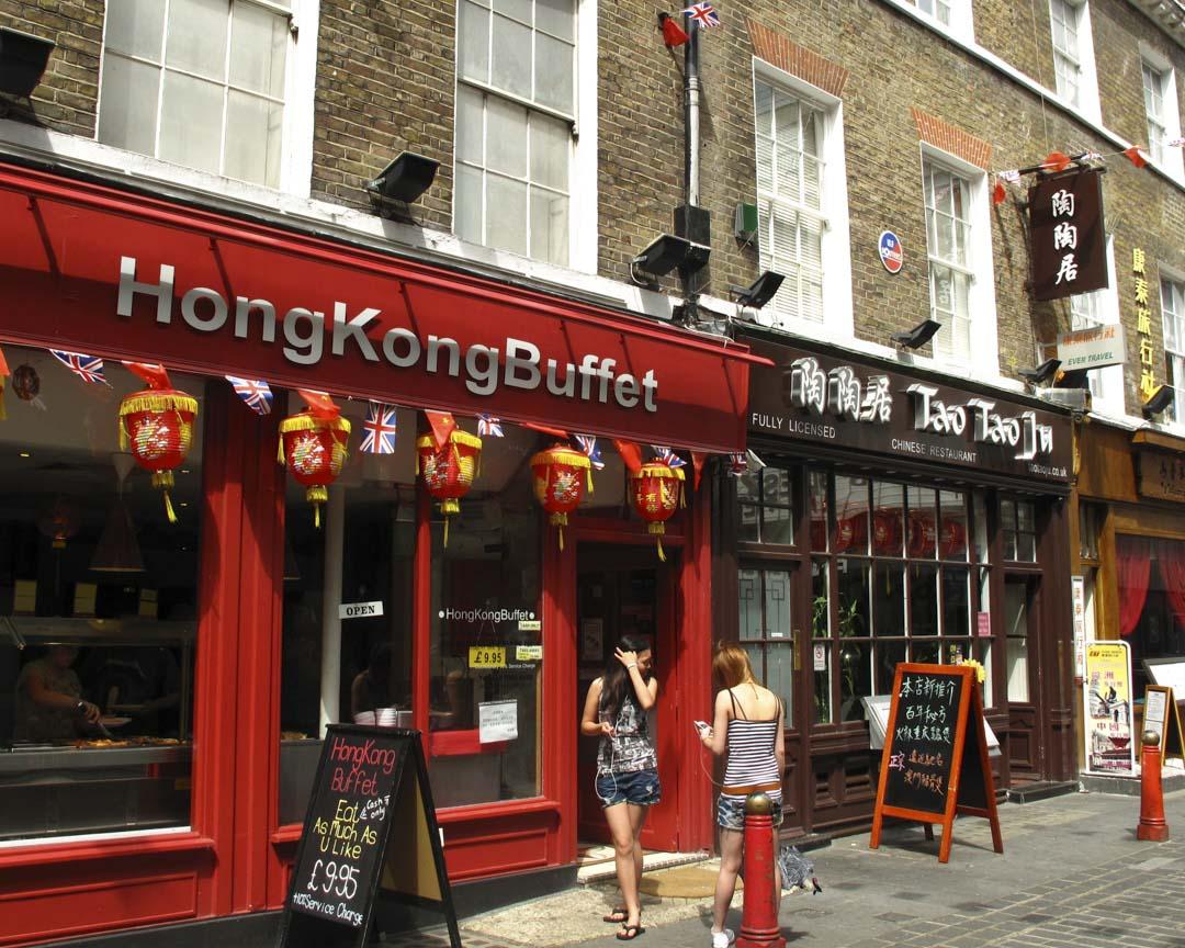 倫敦唐人街的港式餐廳。