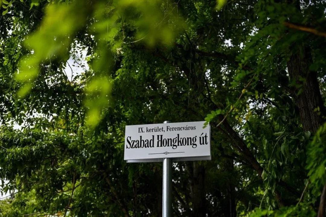 匈牙利布達佩斯第九區區長鮑勞尼(Krisztina Baranyi)將計畫興建復旦大學分校地址周邊街道命名為「達賴喇嘛路」、「維吾爾族烈士路」和「光復香港路」(圖)等,以示抗議。