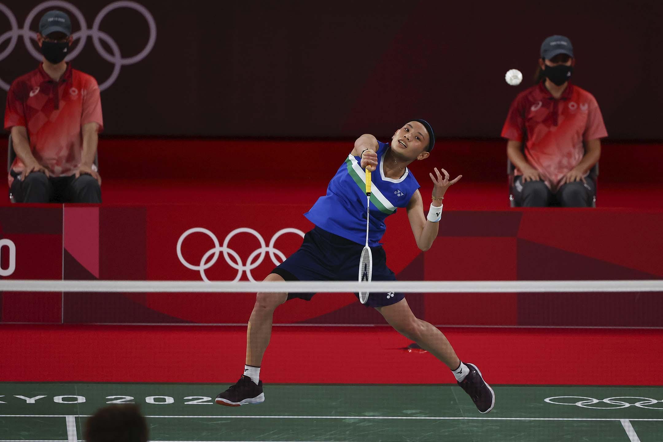 2021年8月1日東京奧運會 ,羽毛球女單決賽中華台北隊戴資穎。