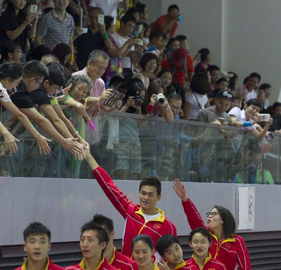 2016年8月28日,中國奧運選手在參加里約熱內盧奧運會後,到訪香港並進行體育表演,其中孫楊與傅園慧甚受觀眾歡迎。