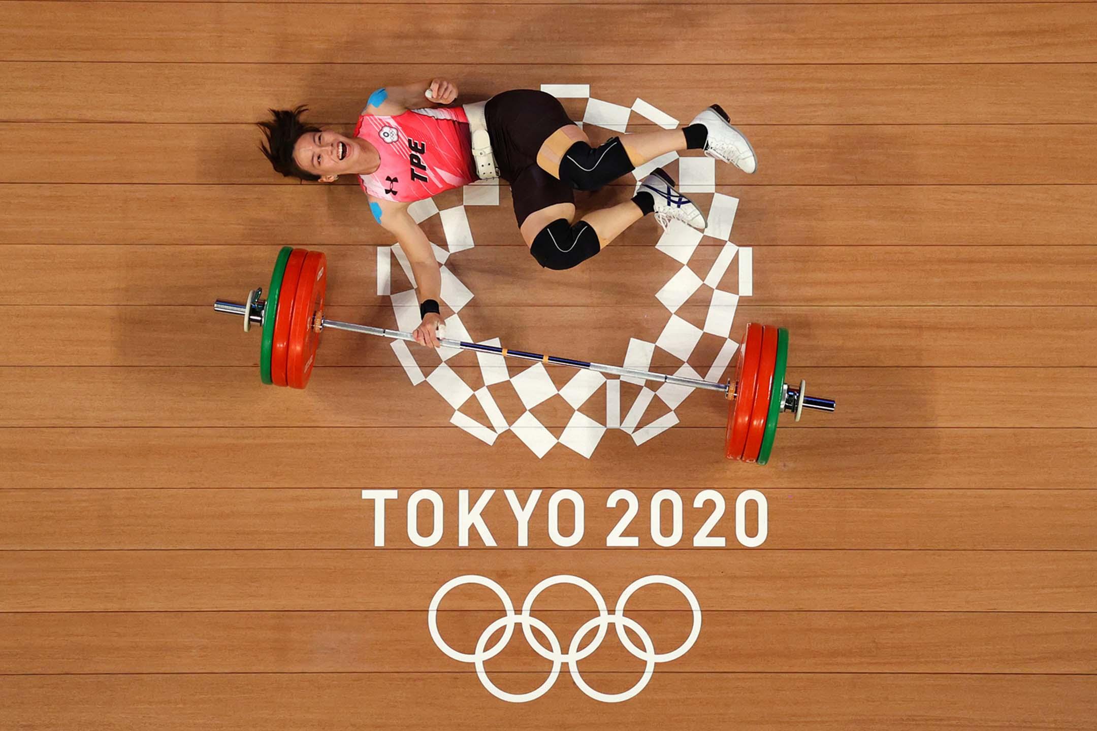 2021年7月27日日本東京奧運會,女子 59 公斤級舉重冠軍郭婞淳。
