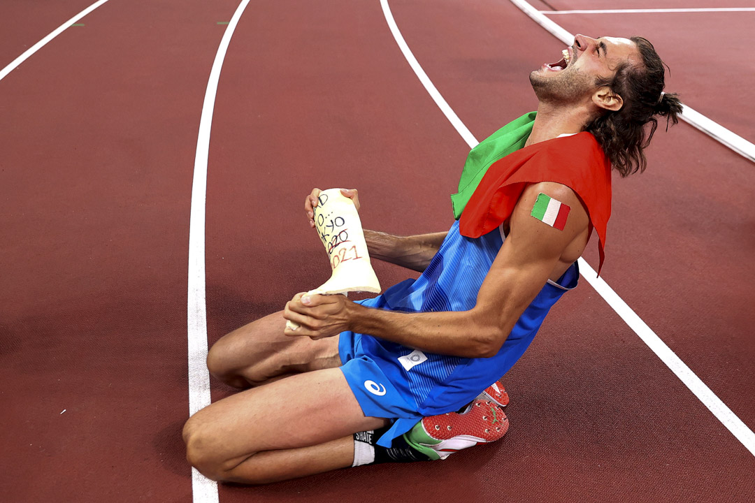 2021年8月1日,意大利跳高選手Gianmarco Tamberi在決賽中取得金牌。