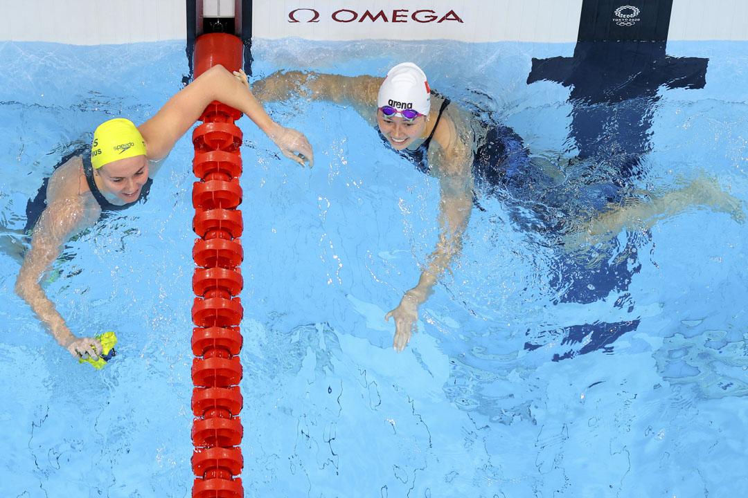 2021年7月28日,東京奧運女子200 米自由泳決賽中,香港選手何詩蓓奪得銀牌。