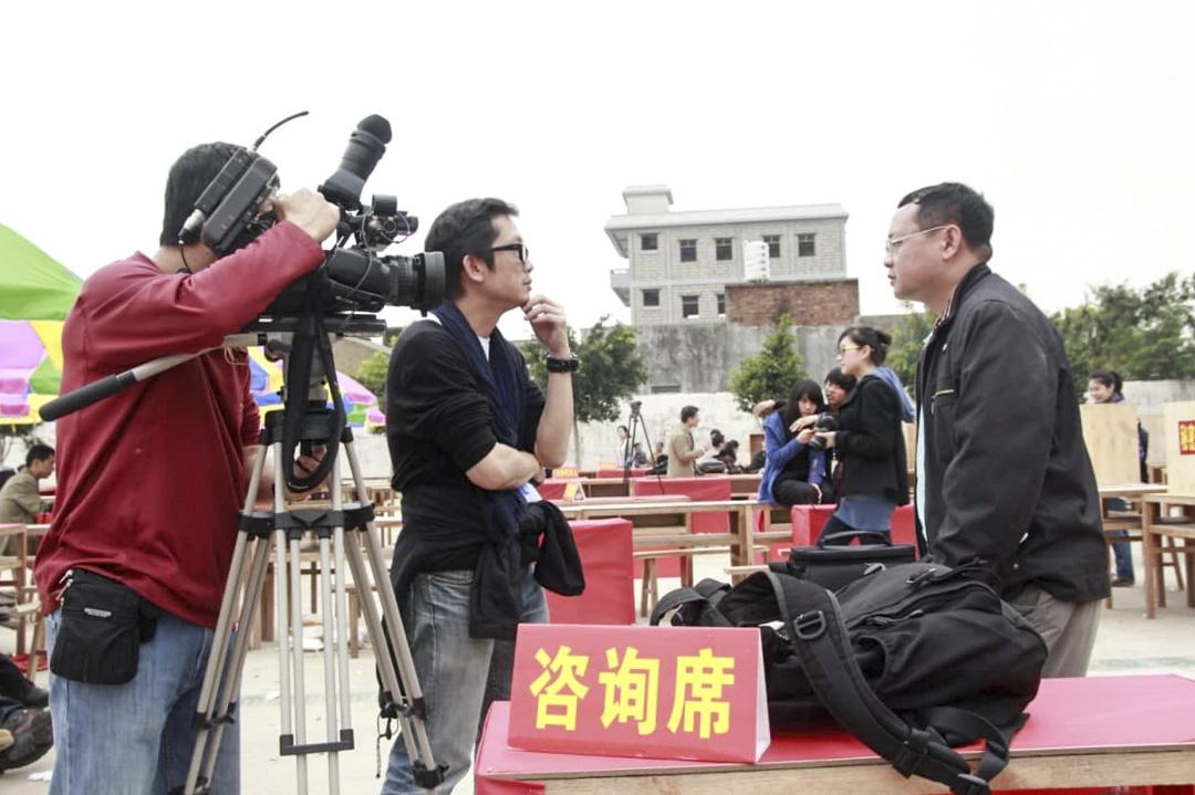 廣東烏坎採訪時的潘達培。