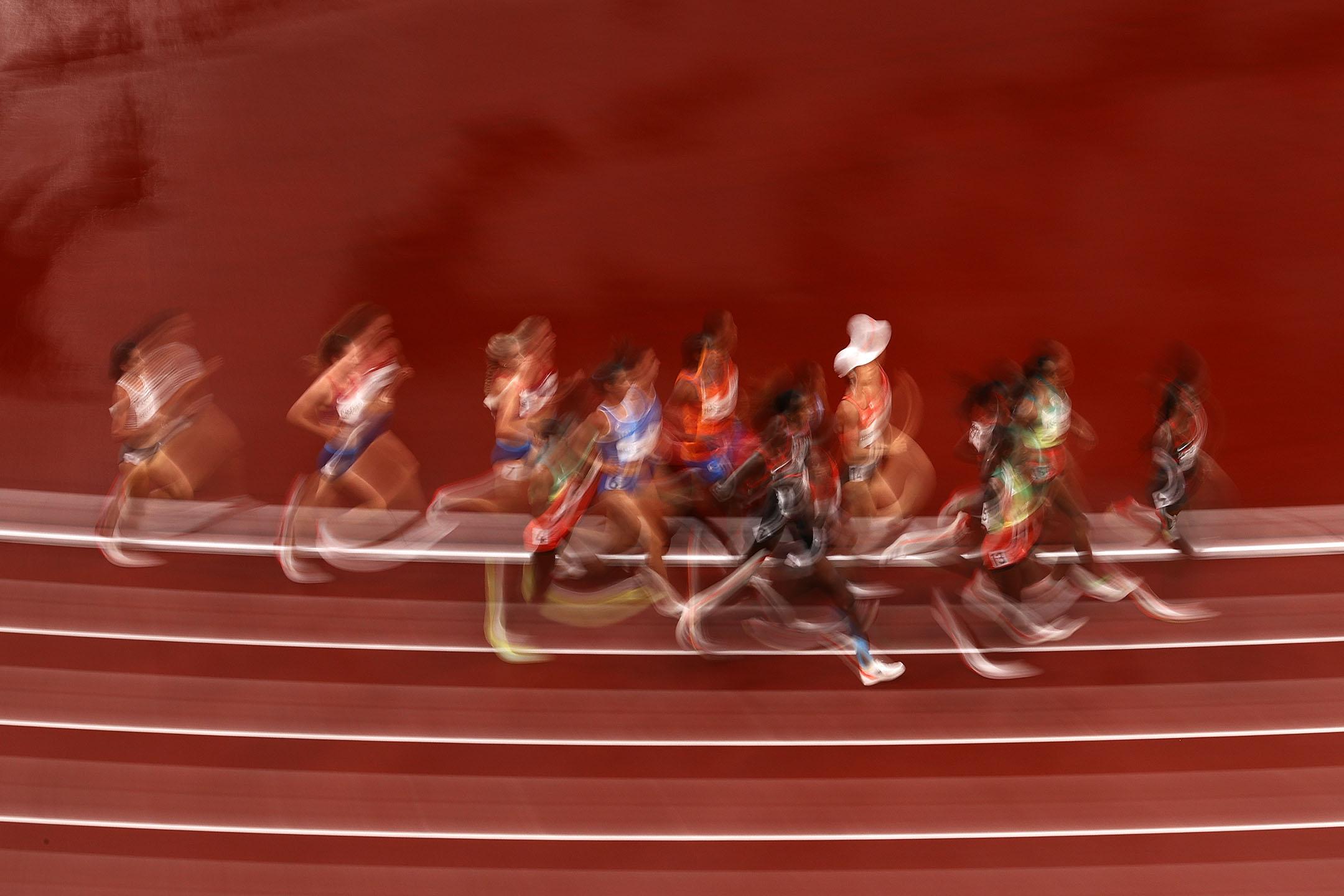2021年8月2日日本東京,奧林匹克體育場舉行女子5000米決賽。