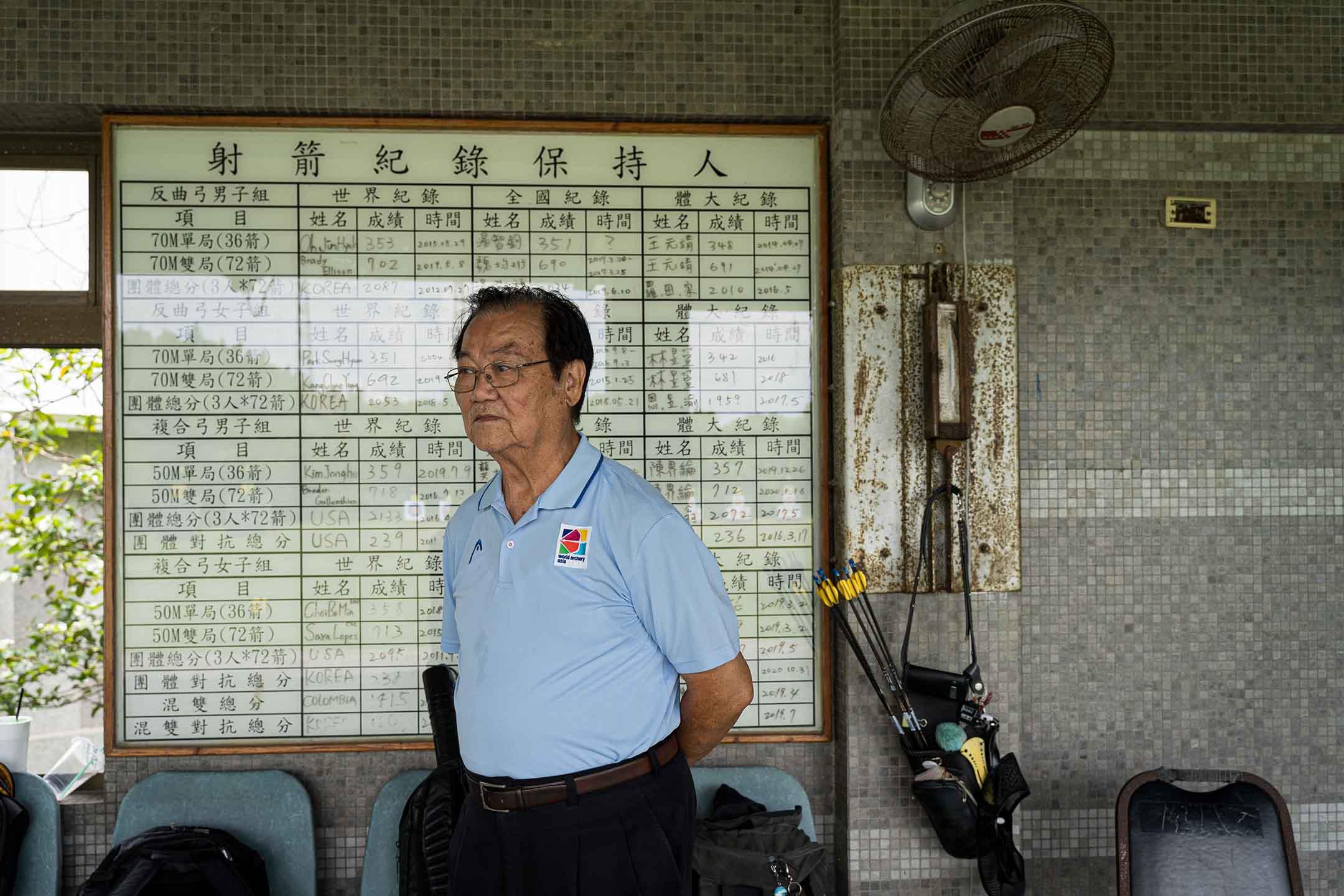 桃園市射箭委員會主委、中華射箭協會常務理事賴文郎。