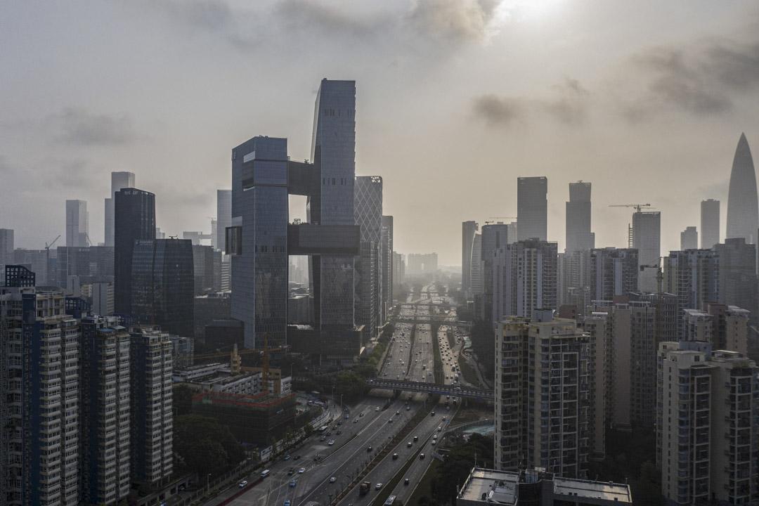 2021年3月20日,深圳的騰訊控股有限公司總部。 攝:Qilai Shen/Bloomberg via Getty Images