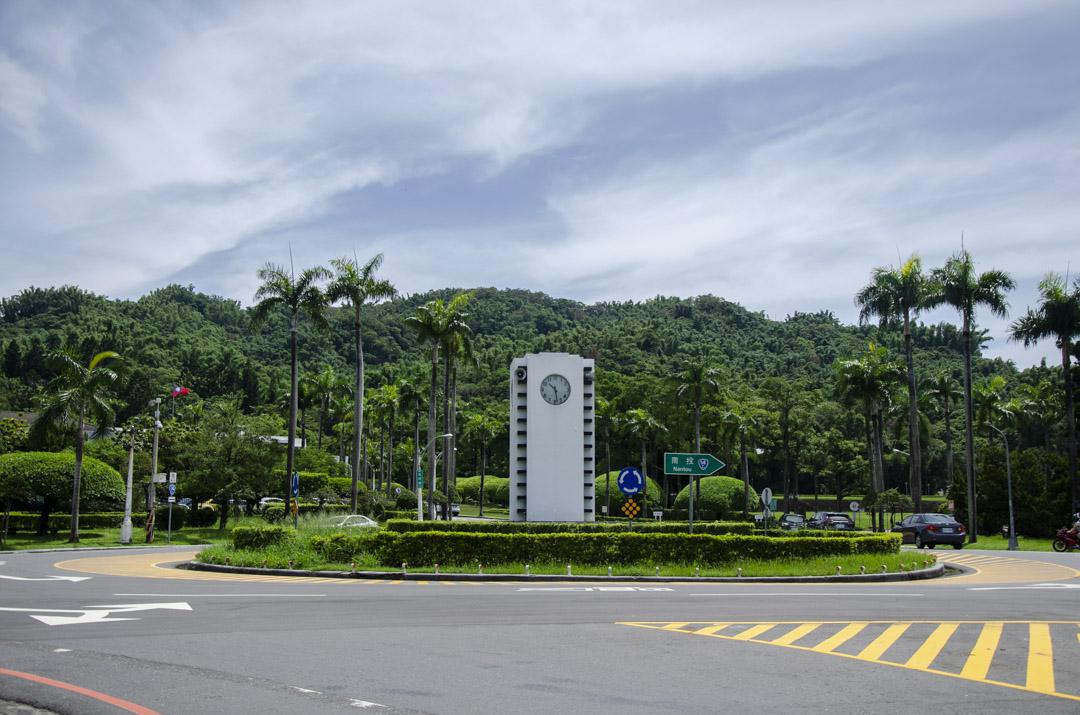 台灣省政府前的入口圓環。