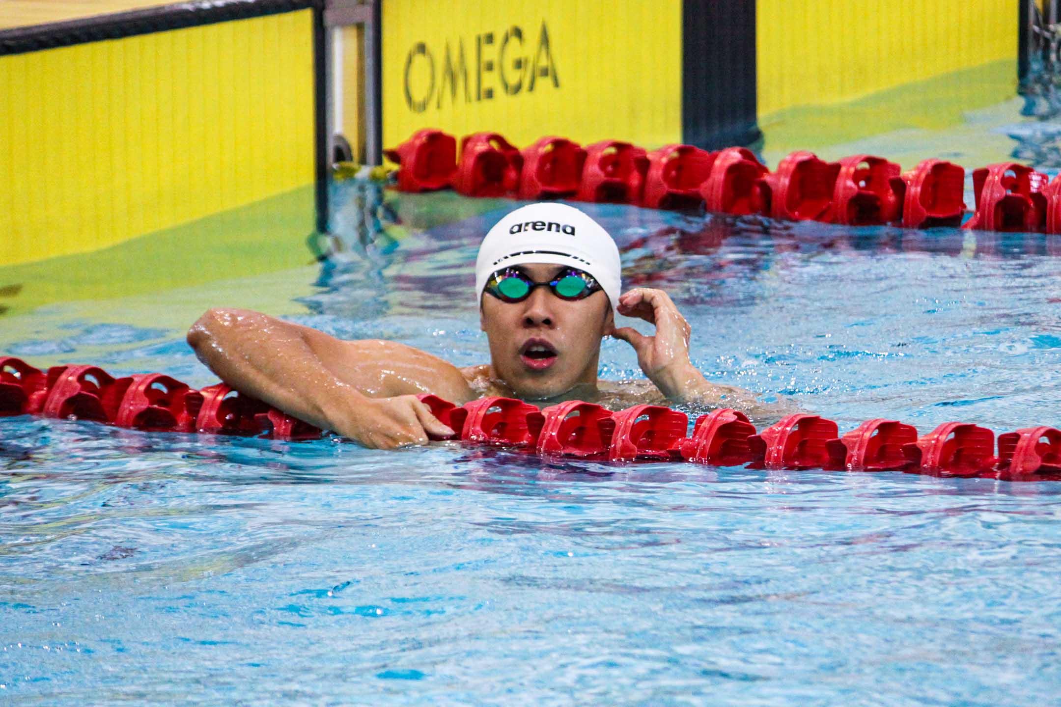 現役澳門游泳代表隊成員周文顥。