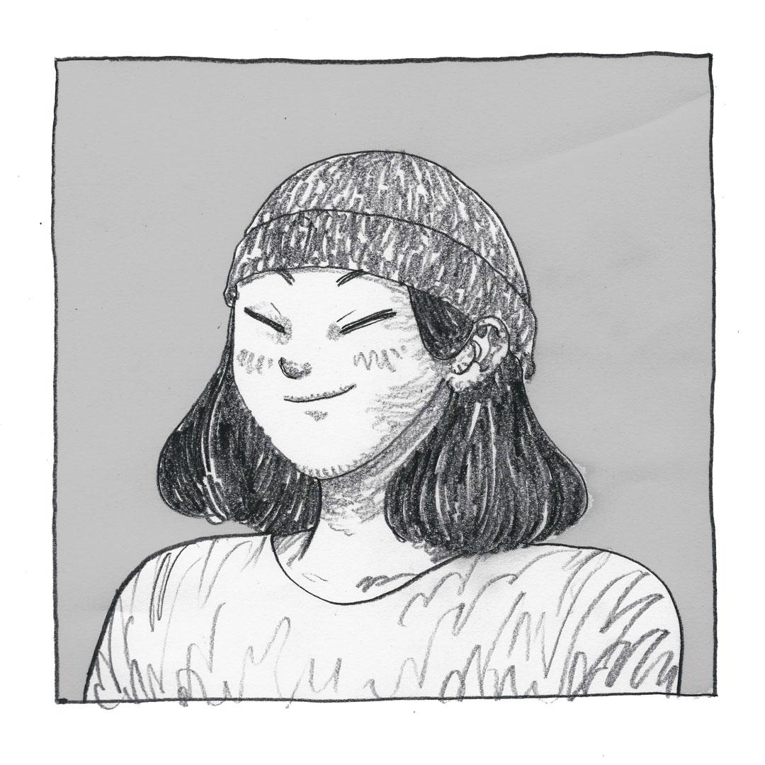 柳廣成自畫像。